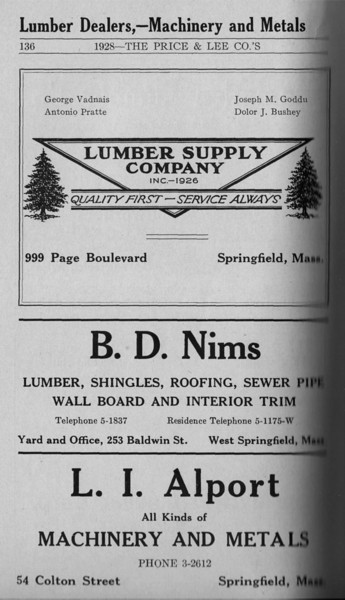 Springfield Directory Ads 1928 109