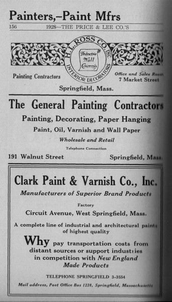 Springfield Directory Ads 1928 130