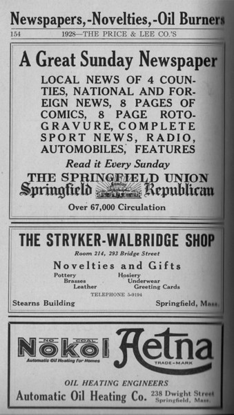 Springfield Directory Ads 1928 127