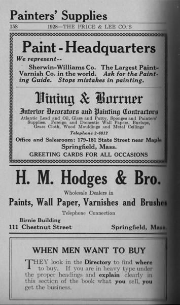Springfield Directory Ads 1928 131