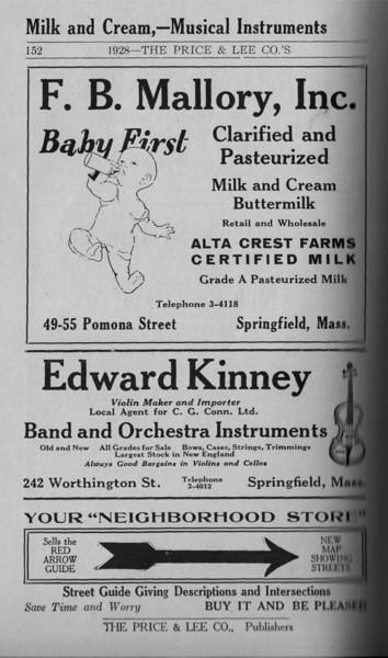 Springfield Directory Ads 1928 125