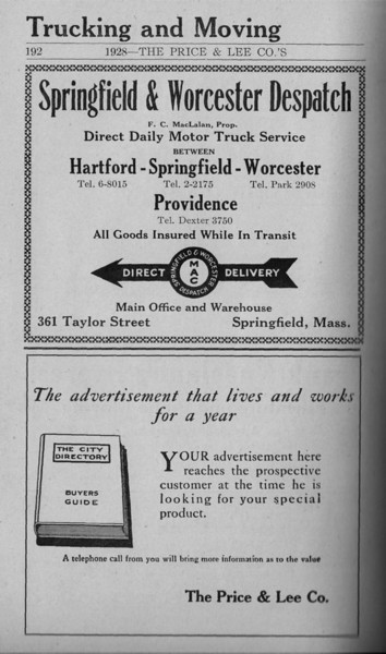 Springfield Directory Ads 1928 165