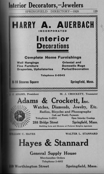 Springfield Directory Ads 1928 102