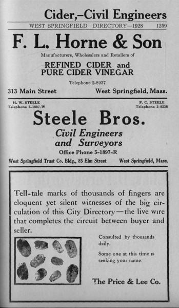 Springfield W S  Directory Ads 1928 03