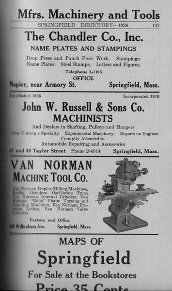 Springfield Directory Ads 1928 120