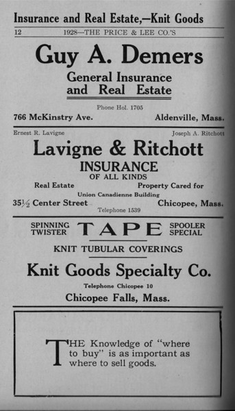 Springfield Chic Directory Ads 1928 10