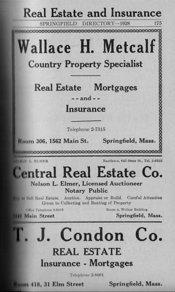 Springfield Directory Ads 1928 148