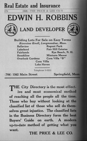Springfield Directory Ads 1928 147