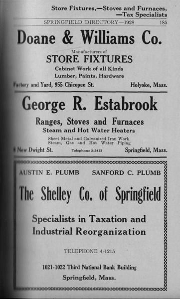 Springfield Directory Ads 1928 158