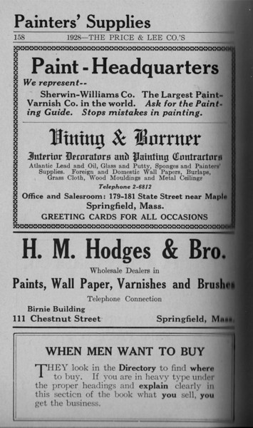 Springfield Directory Ads 1928 131
