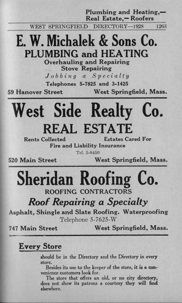 Springfield W S Directory Ads 1928 07