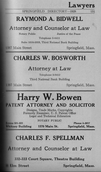 Springfield Directory Ads 1928 104