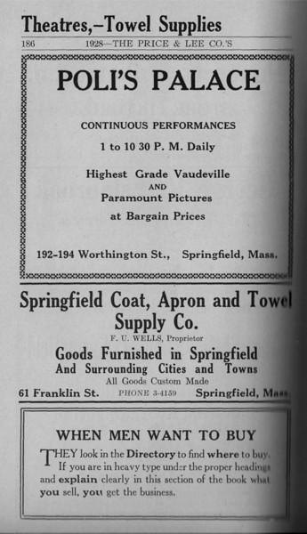 Springfield Directory Ads 1928 159
