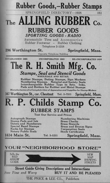 Springfield Directory Ads 1928 154