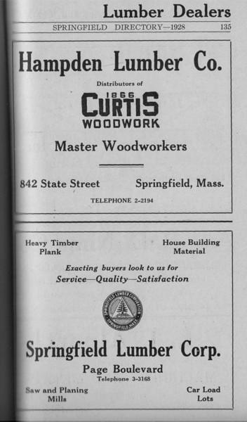 Springfield Directory Ads1928 108