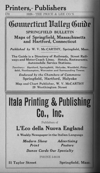 Springfield Directory Ads 1928 143