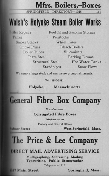 Springfield Directory Ads 1928 114