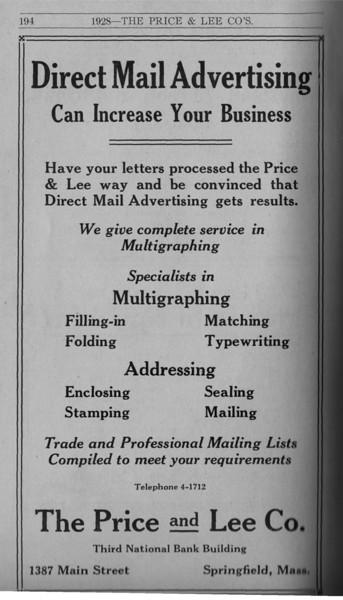 Springfield Directory Ads 1928 167