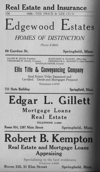 Springfield Directory Ads 1928 149