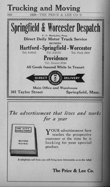 Springfield Directory Ads 1928 165