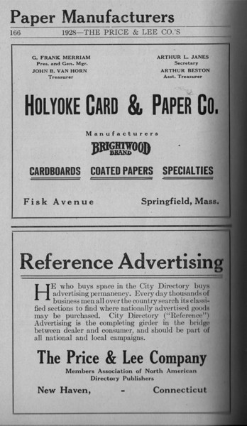 Springfield Directory Ads 1928 139