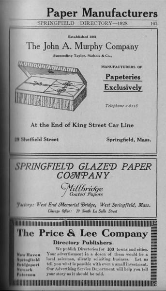 Springfield Directory Ads 1928 140
