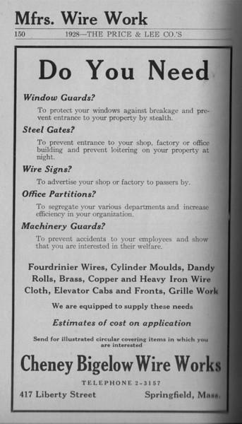 Springfield Directory Ads 1928 123