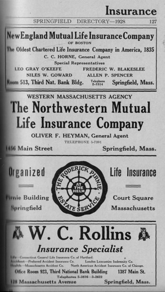 Springfield Directory Ads 1928 100