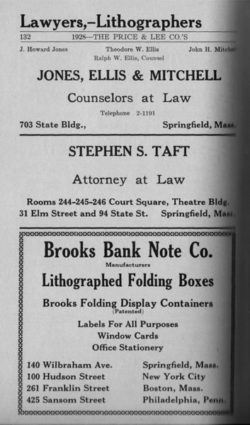 Springfield Directory Ads 1928 105