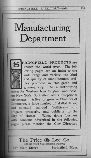 Springfield Directory Ads 1928 112