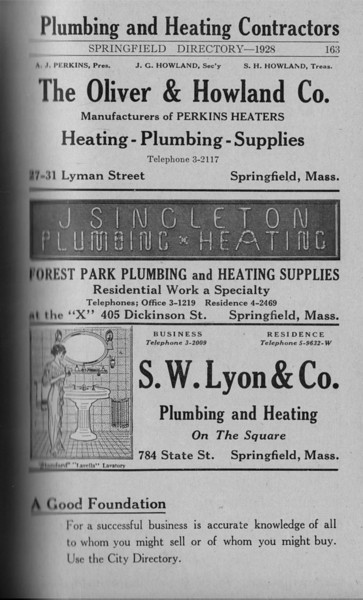 Springfield Directory Ads 1928 136