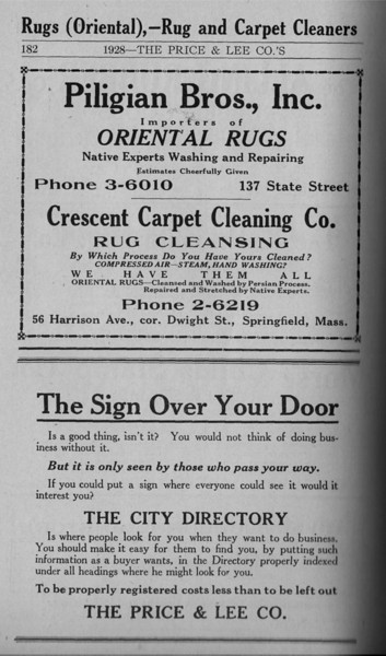 Springfield Directory Ads 1928 155
