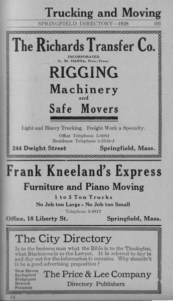 Springfield Directory Ads 1928 164