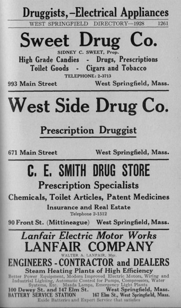 Springfield W S Directory Ads 1928 05