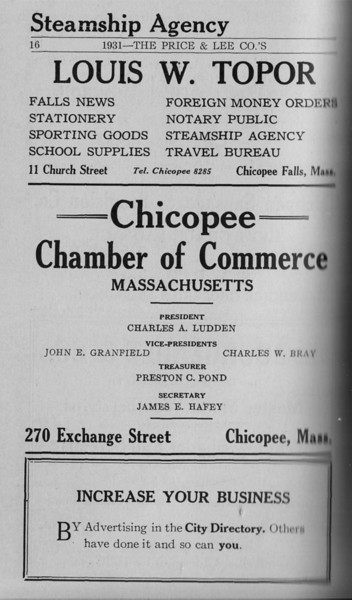 Springfield Chic Directory Ads 1931 14