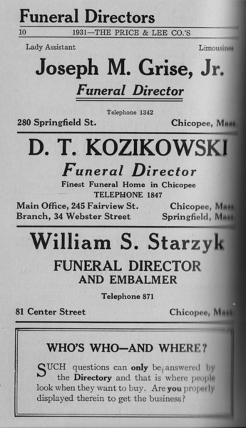 Springfield Chic Directory Ads 1931 08