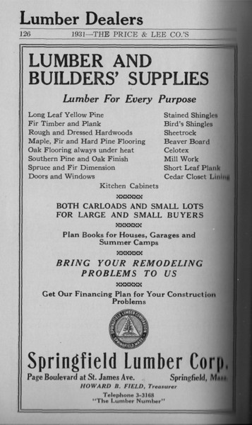 Springfield Directory Ads 1931 111