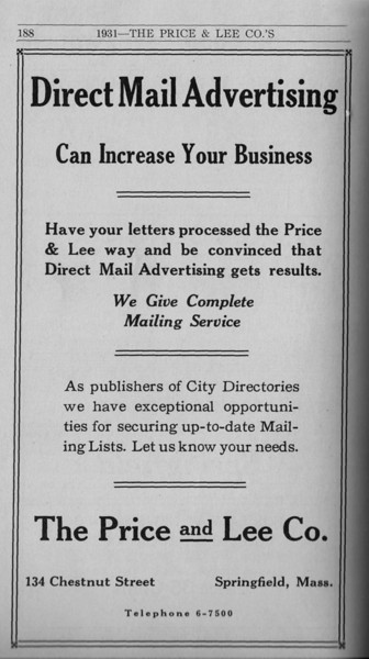 Springfield Directory Ads 1931 177