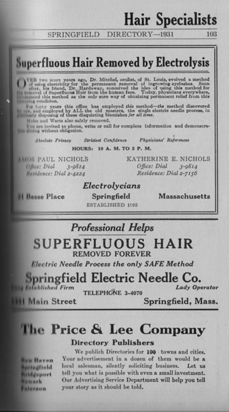 Springfield Directory Ads 1931 087