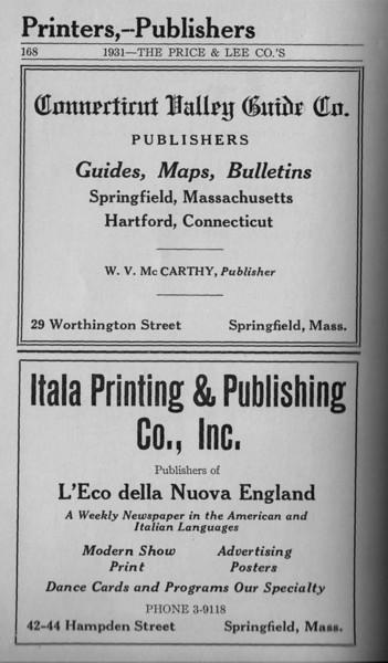 Springfield Directory Ads 1931 157
