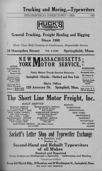 Springfield Directory Ads 1931 174