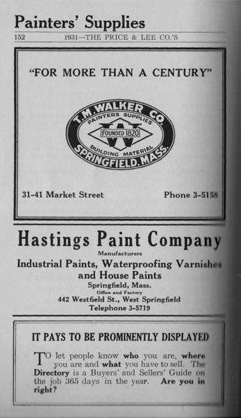 Springfield Directory Ads 1931 139