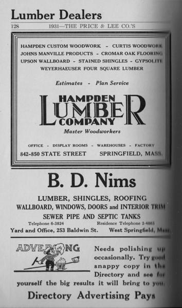 Springfield Directory Ads 1931 113