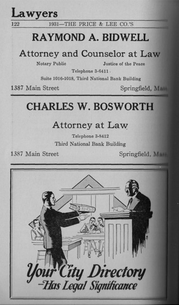 Springfield Directory Ads 1931 107