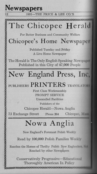 Springfield Chic Directory Ads 1931 10