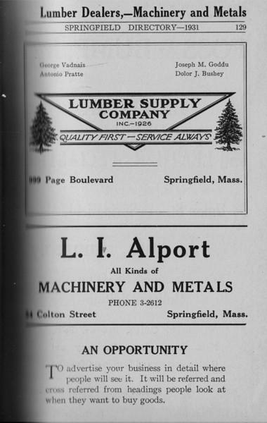 Springfield Directory Ads 1931 114