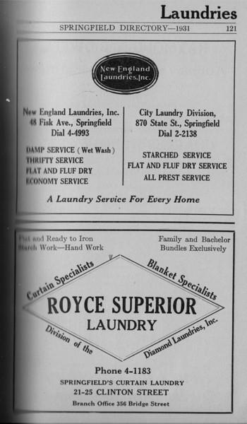 Springfield Directory Ads 1931 106