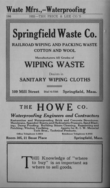 Springfield Directory Ads 1931 175