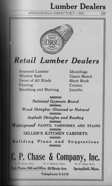 Springfield Directory Ads 1931 110