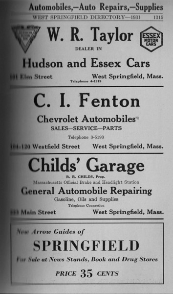 Springfield WS Directory Ads 1931 02